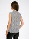 Блузка базовая без рукавов с воротником oodji #SECTION_NAME# (разноцветный), 11411084B/43414/2910F - вид 3