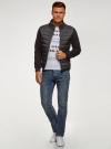 Куртка комбинированная с воротником-стойкой oodji #SECTION_NAME# (черный), 5L911039M/25278N/2900N - вид 6