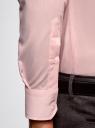 Рубашка базовая приталенная oodji #SECTION_NAME# (розовый), 3B140000M/34146N/4100N - вид 5