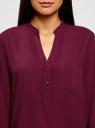 Блузка вискозная с рукавом-трансформером 3/4 oodji для женщины (красный), 11403189-3B/26346/4900N