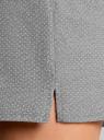 Комбинезон домашний с контрастной отделкой oodji для женщины (серый), 55904007/42290/2310D