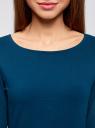 Платье трикотажное облегающего силуэта oodji для женщины (синий), 14001183B/46148/7901N