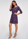 Платье вискозное с рукавом 3/4 oodji #SECTION_NAME# (синий), 11901153-1B/42540/7945E - вид 6