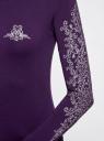 Футболка с длинным рукавом хлопковая oodji для женщины (фиолетовый), 24201007-3/46147/8891P