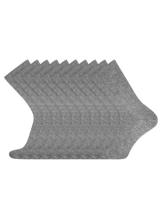 Комплект высоких носков (10 пар) oodji для мужчины (серый), 7B203001T10/47469/2500M