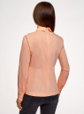Блузка хлопковая с баской oodji #SECTION_NAME# (розовый), 13K00001-1B/42083/4300N - вид 3