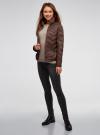 Куртка стеганая с воротником-стойкой oodji для женщины (коричневый), 10203063/18268/3900N - вид 6