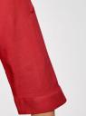 Блузка вискозная с регулировкой длины рукава oodji #SECTION_NAME# (красный), 11403225-3B/26346/4500N - вид 5