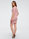 Платье трикотажное облегающее oodji #SECTION_NAME# (розовый), 14001121-3B/16300/4B12A - вид 3