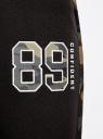 Брюки трикотажные с контрастной отделкой oodji #SECTION_NAME# (черный), 16701050/46919/2969B - вид 5
