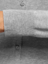 Жакет вязаный на пуговицах oodji для женщины (серый), 73212370/24087/2000M
