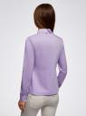 Блузка хлопковая с баской oodji #SECTION_NAME# (фиолетовый), 13K00001-1B/42083/8000N - вид 3