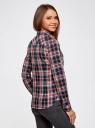Рубашка принтованная хлопковая oodji #SECTION_NAME# (синий), 11406019/43593/7912C - вид 3