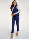 Жилет приталенного силуэта oodji для женщины (синий), 12302002/42014/7500N - вид 6