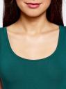 Комплект из двух базовых маек oodji для женщины (зеленый), 24315001T2/46147/6E00N