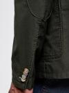 Пиджак приталенный с накладными карманами oodji #SECTION_NAME# (зеленый), 2B510005M/39355N/6600N - вид 5