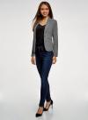 Жакет базовый приталенный oodji для женщины (серый), 11200286B/14917/2500M - вид 6