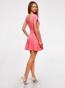 Платье приталенное с V-образным вырезом на спине oodji #SECTION_NAME# (розовый), 14011034B/42588/4D00N - вид 3
