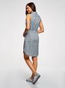Платье хлопковое на кулиске oodji #SECTION_NAME# (синий), 11901147-5B/42468/7079F - вид 3