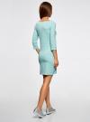 Платье трикотажное базовое oodji для женщины (бирюзовый), 14001071-2B/46148/7320S - вид 3