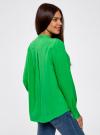 Блузка вискозная А-образного силуэта oodji #SECTION_NAME# (зеленый), 21411113B/26346/6A00N - вид 3