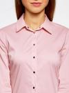 Рубашка хлопковая с металлическими кнопками oodji #SECTION_NAME# (розовый), 21406034-1/42083/4000N - вид 4