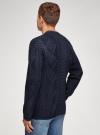 Кардиган ажурной вязки с карманами oodji #SECTION_NAME# (синий), 4L605047M/25365N/7900N - вид 3