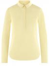 Рубашка базовая с нагрудными карманами oodji #SECTION_NAME# (желтый), 11403222B/42468/5000N