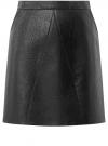 Юбка из искусственной кожи на молнии oodji #SECTION_NAME# (черный), 18H00003/45704/2900N