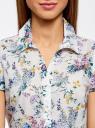 Блузка принтованная из легкой ткани oodji #SECTION_NAME# (белый), 21407022-9/12836/1019F - вид 4