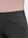 Брюки облегающие с декоративными карманами oodji для женщины (серый), 28600036/43127/2500M