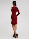 Платье с декоративной вставкой oodji #SECTION_NAME# (красный), 73912220/33506/4900N - вид 3