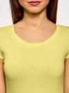 Комплект футболок с вырезом-капелькой на спине (3 штуки) oodji #SECTION_NAME# (желтый), 14701026T3/46147/6700N - вид 4
