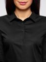 Рубашка базовая из хлопка oodji для женщины (черный), 11403227B/14885/2900N