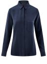 Блузка вискозная с нагрудным карманом oodji #SECTION_NAME# (синий), 13L11012-1/47741/7900N