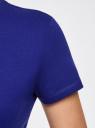 Футболка хлопковая с круглым вырезом oodji для женщины (синий), 14701078B/48005/7500N