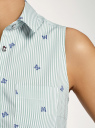 Платье хлопковое на кулиске oodji #SECTION_NAME# (зеленый), 11901147-4B/45202/6275O - вид 5