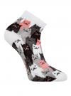 Комплект из трех пар хлопковых носков oodji для женщины (разноцветный), 57102418-5T3/48418/14 - вид 4