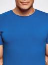 Футболка мужская oodji #SECTION_NAME# (синий), 5B611004M/46737N/7500N - вид 4
