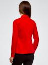 Блузка хлопковая с баской oodji #SECTION_NAME# (красный), 13K00001-1B/42083/4500N - вид 3