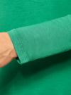 Футболка из вискозы с длинным рукавом oodji #SECTION_NAME# (зеленый), 14208001/19768/6D00N - вид 5