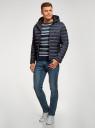 Куртка стеганая с капюшоном oodji #SECTION_NAME# (синий), 1B112009M/25278N/7901N - вид 6