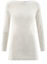 Платье кружевное с вырезом-лодочкой oodji для женщины (белый), 59801010/46001/1200N