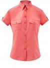 Рубашка хлопковая с нагрудными карманами oodji #SECTION_NAME# (красный), 13L02001B/45510/4300N
