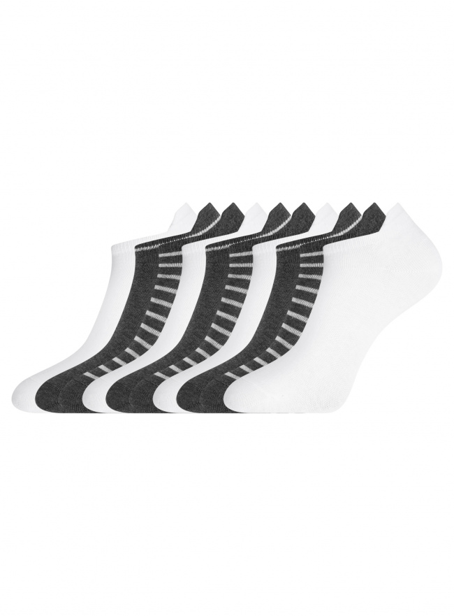 Носки укороченные (комплект из 10 пар) oodji для женщины (разноцветный), 57102606T10/49126/1