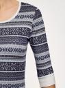 Платье трикотажное с этническим принтом oodji #SECTION_NAME# (серый), 14001064-3/35468/7923J - вид 5