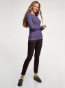 Джемпер фактурной вязки в мелкую косичку oodji для женщины (фиолетовый), 73812624-2B/49296/8800M