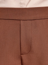 Брюки зауженные на эластичном поясе oodji #SECTION_NAME# (коричневый), 11703091B/18600/3903N - вид 4