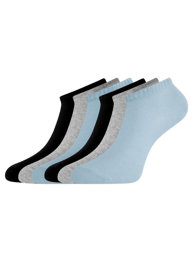 Комплект укороченных носков (6 пар) oodji для женщины (разноцветный), 57102433T6/47469/90