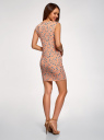 Платье трикотажное с круглым вырезом oodji #SECTION_NAME# (розовый), 14008014-6B/46943/4312F - вид 3